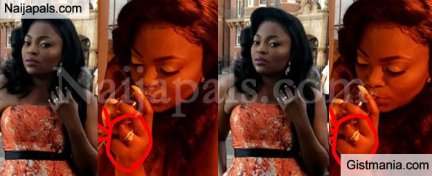 Funke Akindele Secretly Married? Flaunts Wedding Band In New Picture