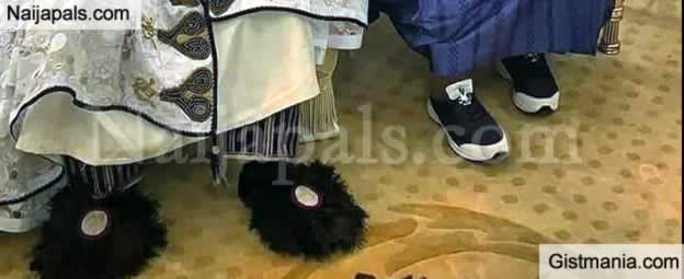 This Hilarious Shoe Worn By Emir Of Kano Got The Internet Laughing