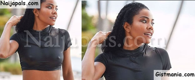 Hollywood Actress, Gabrielle Union Flashes Her N!pples In Super Sexy Photo