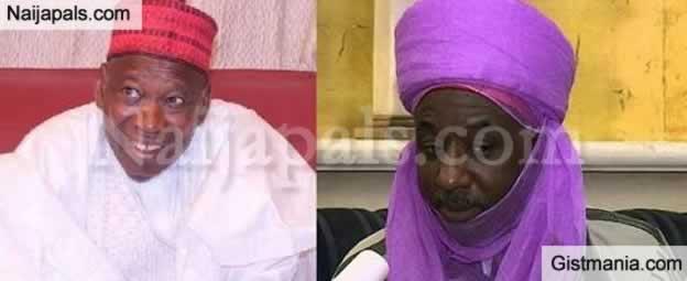 Emir Sanusi Of Kano Sacks Palace Chief For Welcoming Governor Abdullahi Ganduje
