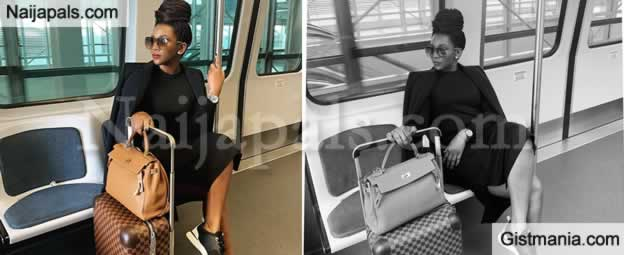 PHOTOS! Genevieve Nnaji Looks Ravishing As She Steps Out In All Black With A Killer Shades