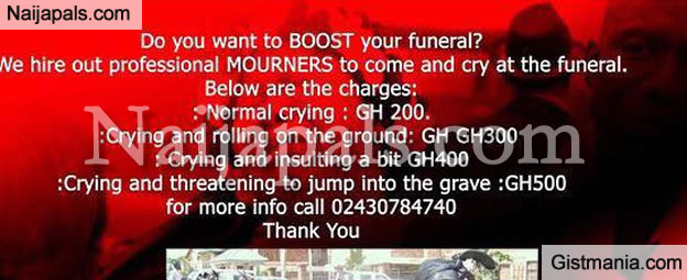 What Is Wrong With This Advert (Ghana Mourners Edition)