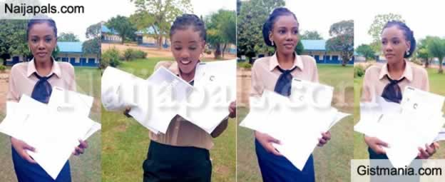 "Photos:""Brilliant Lady, Franka Anyama Shows Off 11 Admission Letters She Got From Foreign Universities"
