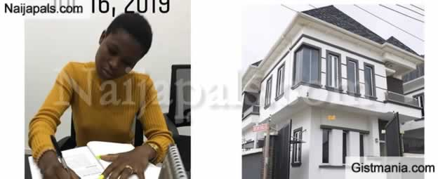 Small Girl With Big God! Nigerian Lady Celebrates As She Acquires Her 2nd House In Lekki At Age 23