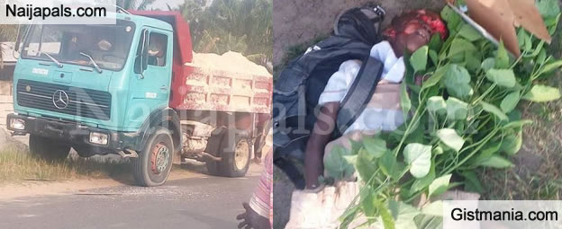 Little Girl Crushed To Death By A Tipper On Her Way To School In Delta State.