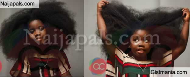 Cute Photos Of A Little Nigerian Girl Who Has Stunning Hair