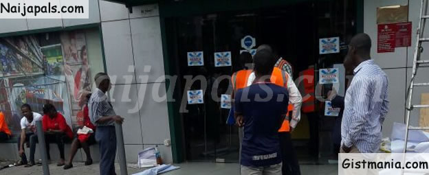 Lagos State Saftey Commision Seals Off Goodies Supermarket in Ikeja (Photos)