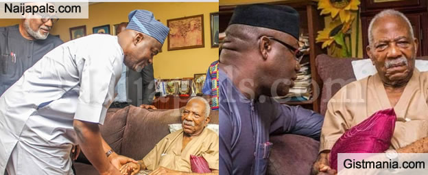 PHOTOS: South-West Governors Pay Pa Fasoranti A Condolence Visit After Daughter's Death