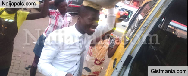What Is Wrong With This Photo Of A Graduate Selling La Casera In A Lagos Park [Photos]