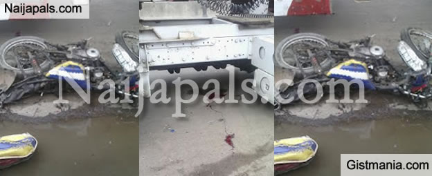 Photos From Okada Accident In Apapa This Afternoon [Graphic Photos ]