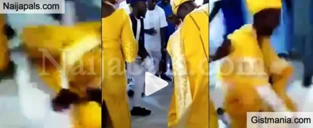 Zanku Legwork Goes Wrong As Groom Fell At His Wedding