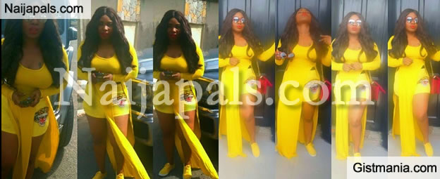 ALL YELLOW! Halima Abubakar In All Yellow Puts Hot Beach Body On Display (PHOTOS)