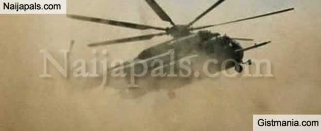 VIDEO: Nigerian Airforce Helicopter Crash Lands In Enugu, No Fatality