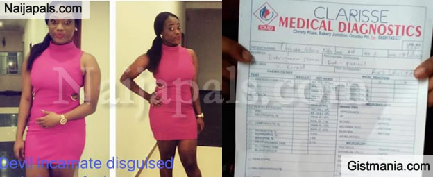 Lady Who Was Accused Of Infecting Man With HIV Shares Her Result Of The Test To Be Negative Photos