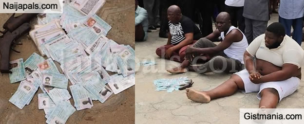#2019elections! Political Thugs Caught With Lots Of PVCs & Local Pistol in Akwa-Ibom State (Photos)