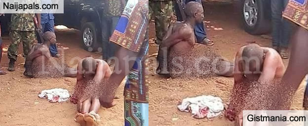 Two Notorious Hoodlums Stripped Nak3d, Beaten And Paraded By Soldiers In Nasarawa (Photos)
