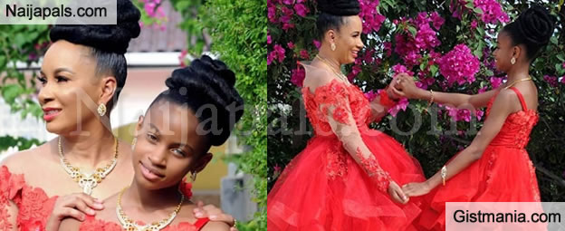 Actress, Ibinabo Fiberesima Twining With Her 11yr Old Daughter, Zino in Adorable New Photos