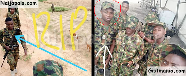 Photos Of Promising Young Soldier, Ifeanyi Sunday & Two Others Killed By Boko Haram In Borno