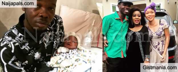 Popular Comedian, Ijebu Welcomes a Baby Girl With Wife