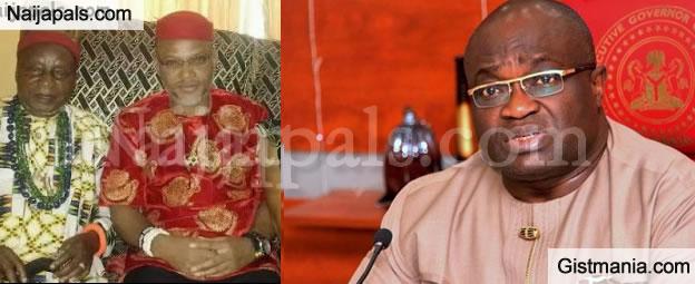 I Can't Dethrone Nnamdi Kanu's Father - Gov. Ikpeazu Replies Abia Youths