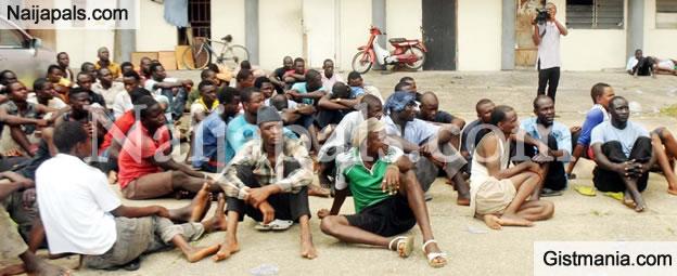 PHOTO: NIS & Nigeria Immigration Service Arrests 247 Illegal Immigrants In Adamawa