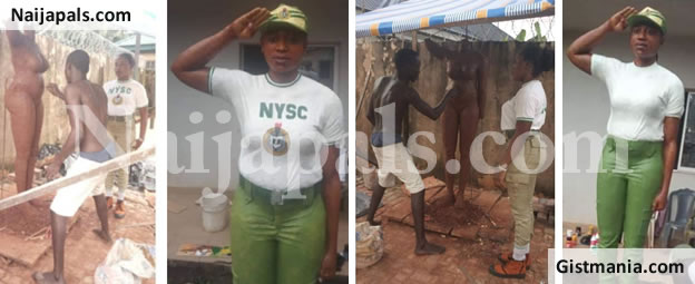 WOW! Male Corps Member, Ojo Olaropo Makes An Incredible Sculpture Of A Female Corps Member (Photos)
