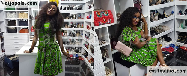OMG! See Inside Ini Edo's Luxury Shoe and Bag Closet Looking Like a Boutique