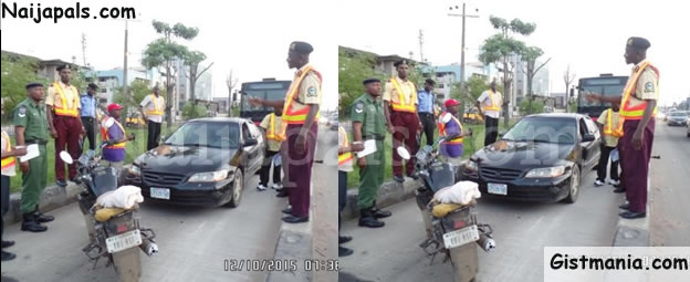 Irate Soldiers Beat Up LASTMA Officer Daring To Take Photographs Of Them Violating The BRT Lane