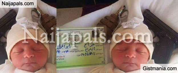 ISIS Baptises New Born Baby With Grenade, Handgun And Terrorist Birth Certificate