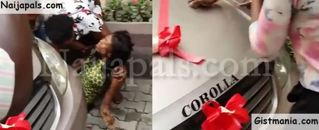 PHOTOS: Nollywood Actress, Iyabo Ojo's P.A Faints After A Car Was Presented To Her By Her Boss