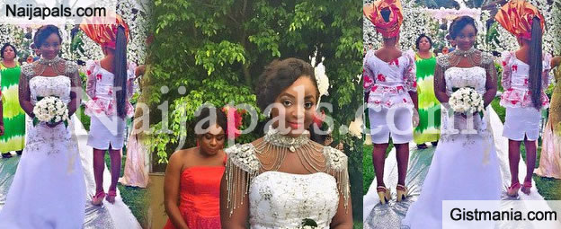 WOW! Jackie Appiah Pretty Much Rocks In This Wedding Dress