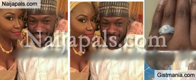 PHOTOS: Senator Musliu Obanikoro's Son, Jide Proposes To His Girlfriend, Fatima Garba