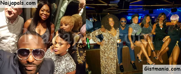 Nollywood Actor, Jim Iyke Celebrates 40th Birthday With His Gorgeous Sisters In Las Vegas
