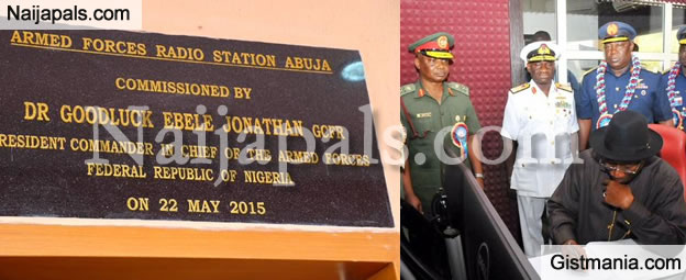 President Jonathan Commissions the New Armed Force Radio Station in Abuja (PHOTOS)