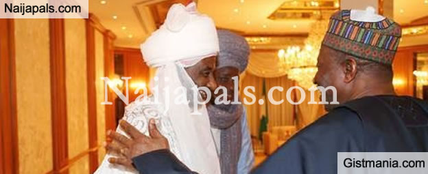 Finally! Emir Of Kano, Lamido Sanusi Meets With President Jonathan At Aso Rock
