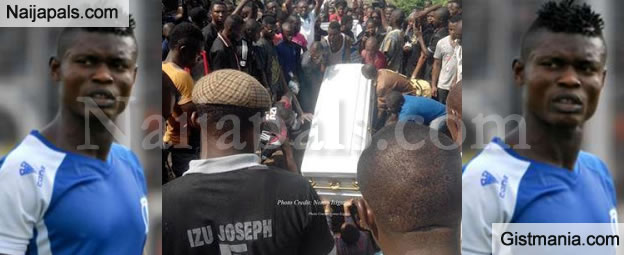 The Remains Of Footballer, Joseph Izu Allegedly Killed By JTF Military, Laid To Rest - Photos
