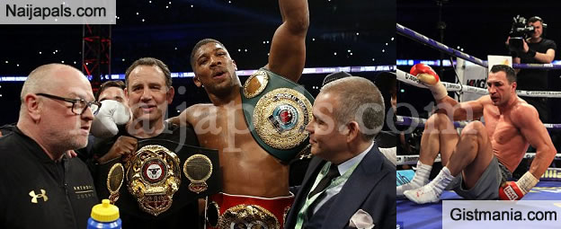 Anthony Joshua Defeats Wladmir Klitschko By Knockout To become The Unified Heavyweight Champion