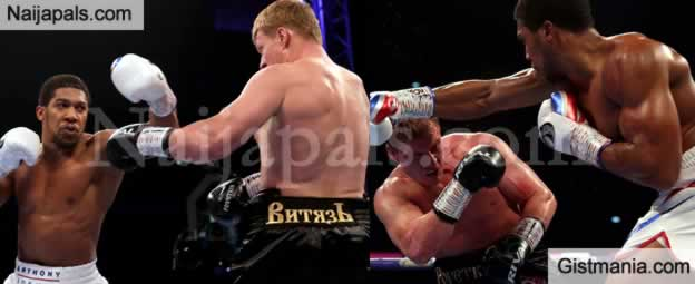 Anthony Joshua Knocks Out Alexander Povetkin To Defend His Heavy Weight Belts