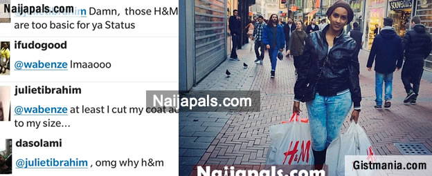 Juliet Ibrahim On Buying Spree At H&M In Amsterdam