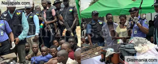 PHOTOS: 60 Kidnappers Disturbing The Kaduna-Abuja Road Have Finally Being Arrested