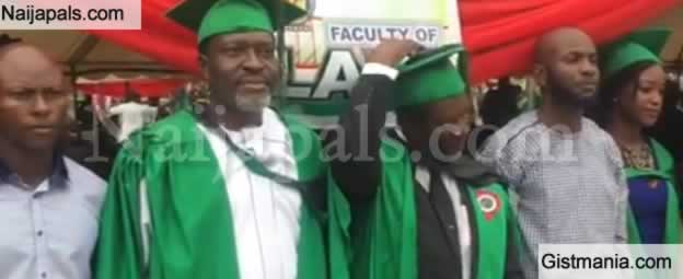 Photo+Video: Veteran Actor, Kanayo O. Kanayo Bags Law Degree From University Of Abuja
