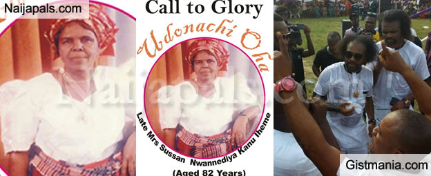 Football Star, Kanu Nwankwo Buries His Mother In Arochukwu, Abia State - Photos