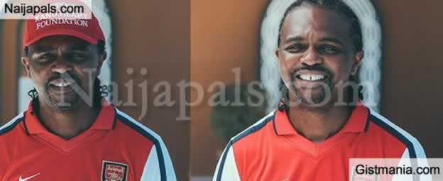 Football Legend, Kanu Nwankwo Shows Off Special Jersey Indicating All The Clubs He Played For
