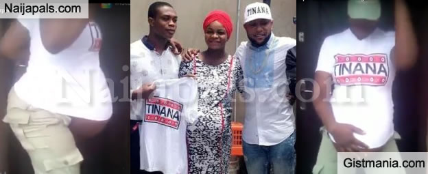 Kcee Pays Surprise Visit, Donates Cash To Pregnant #TinanaMovement Competitor (Photos)