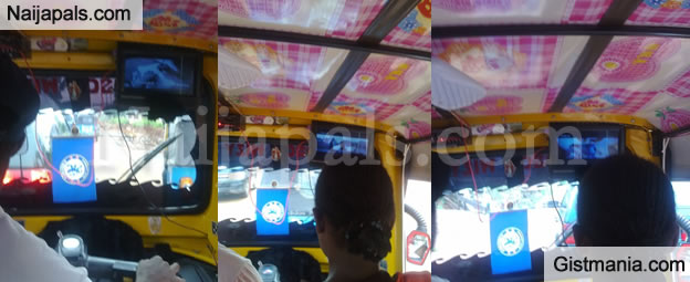 Check Out Keke Napep With Plasma Screen TV - Photo