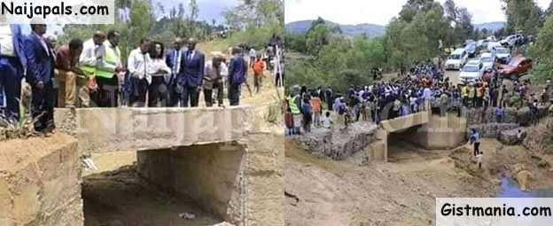 Look At The Bridge A State Governor In Kenya Commissioned (Photos)