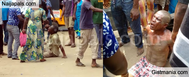 Two Kidnappers Caught And Lynched By Mob In Lagos - Photos
