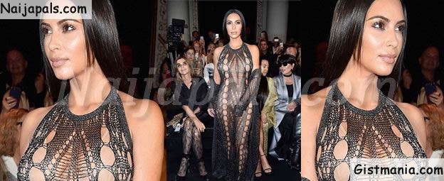 Kim Kardashian at it Again! Goes Under Underwear Free While Attending an Event in Paris