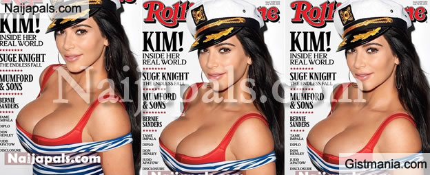 Kim Kardashian Stuns Very Hard On The Latest Cover Of Rolling Stones Magazine