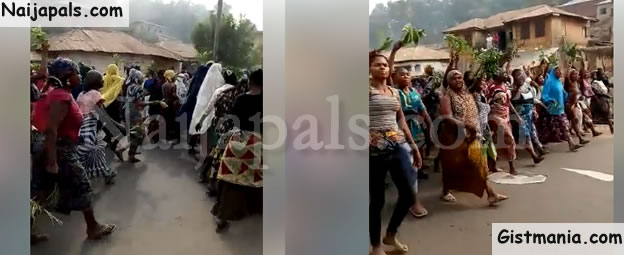 Following Sleepless Nights Of Gun Raids, Aggrieved Women Took To The Street To Protest In Kogi (Video)